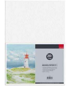 Aquarellpapier, 30 Blatt, DIN A4, 200g - Bild vergrößern