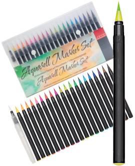 Aquarell Brush Pen Set - Bild vergrößern
