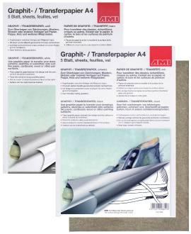 Graphitpapier A4, 5 Blatt - Bild vergrößern