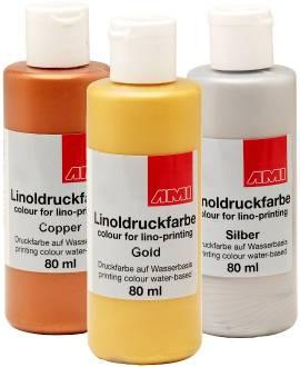Aqua-Linoldruckfarbe Metallic 80 ml - Bild vergrößern