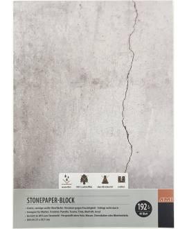 Steinpapier-Block, 40 Blatt, 192 g/m², A4 - Bild vergrößern