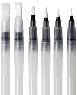 Water Brush Set. 6-teilig - Bild vergrößern