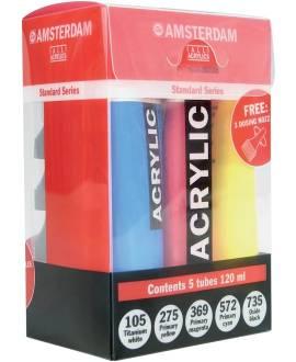 AMSTERDAM - Acrylfarben-Set, 5 x 120 ml Tube - Bild vergrößern