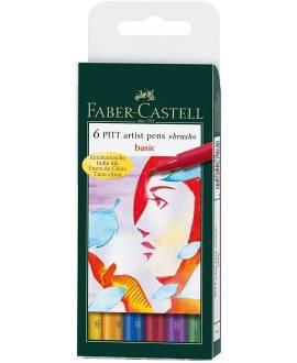 PITT Artist Pen - Set Basic - 6 Künstler-Zeichentuschestifte - Bild vergrößern