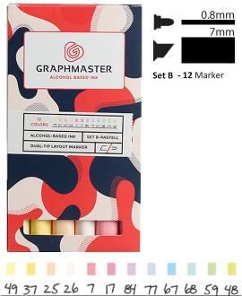 Graphmaster Marker Set B - Pastel - Bild vergrößern