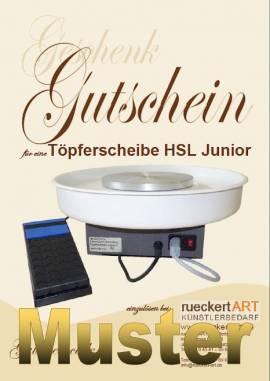GESCHENK-GUTSCHEIN Töpferscheibe HSL Junior - Bild vergrößern