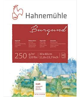 Hahnemühle - Burgund - Aquarellblock, 30 x 40 cm - Bild vergrößern