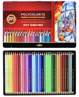 POLYCOLOR 36 Künstlerfarbstifte - Bild vergrößern