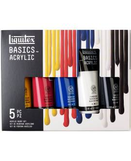 Liquitex Basics Acryl Color, Set 5 x 118 ml Tube - Bild vergrößern