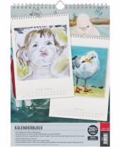 Kalenderblock,12 Blatt 250 g/m²