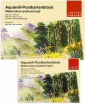 Aquarell-Postkartenblock, 20 Blatt, 300g