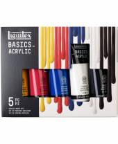 Liquitex Basics Acryl Color, Set 5 x 118 ml Tube