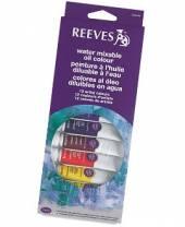 Reeves wassermischbare Öl-Farben, Set mit 12 Tuben á 10 ml