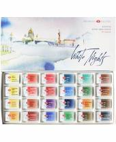 White Nights Aquarellfarben, 24er Kartonbox