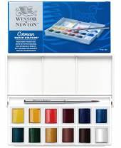 Winsor & Newton Aquarell-Farben, 12 halbe Näpfchen