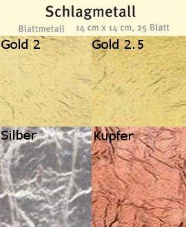 Schlagmetall, 25 Blatt