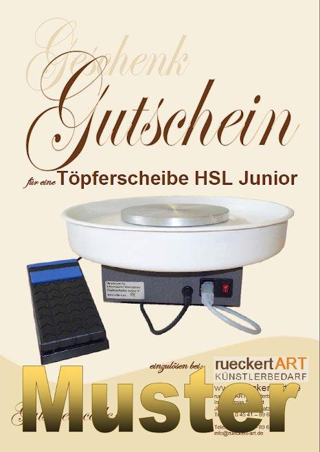 GESCHENK-GUTSCHEIN Töpferscheibe HSL Junior